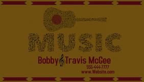 Business Card Guitar Music