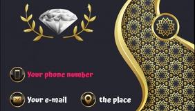 Business card Jewelry Визитная карточка template