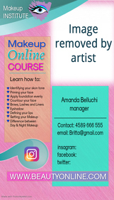 business card makeup artist instagram