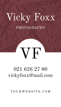 Business Card Paper Visitenkarte template
