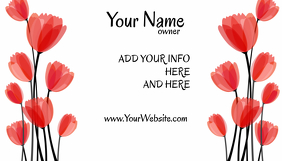 Business Card Red Poppy