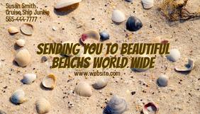 Business Card Sand and Shells Kartu Bisnis template