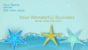 Business Card Star Fish Kartu Bisnis template