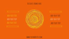 Business Card Sunshine and Orange