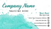 Business Card Template (Turquoise) Besigheidskaart