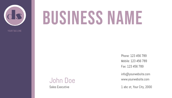 business card template Visitkort