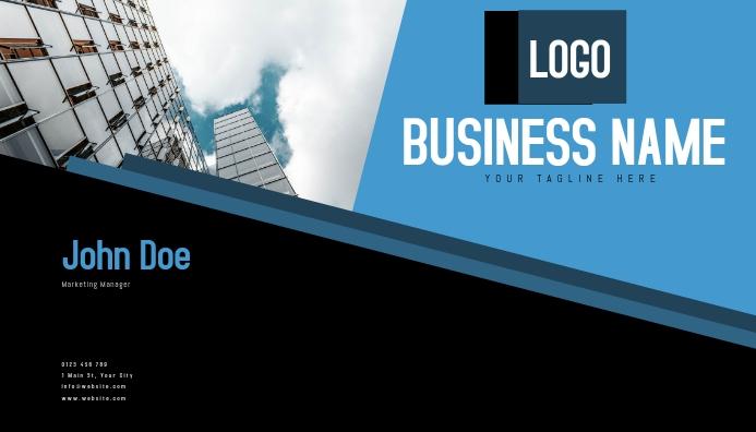 business card template Cartão de visita