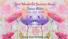 Business card Watercolor Flowers