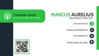 business card with qr code Visitenkarte template