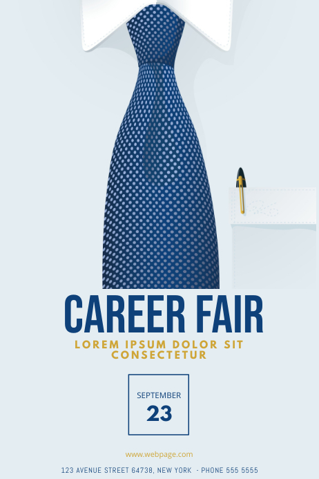 Business Career Job Conference fair template Poster