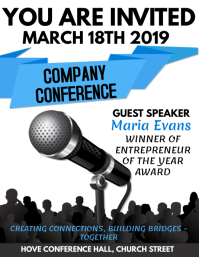 Business Company Conference Flyer Template