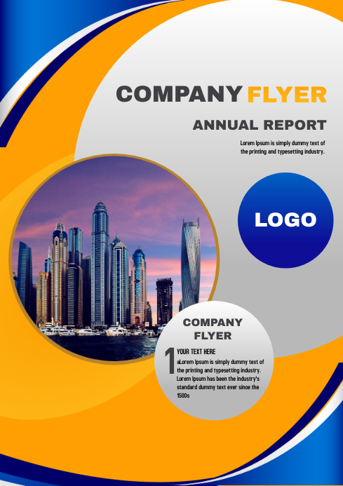 Business Company Flyer Template A4