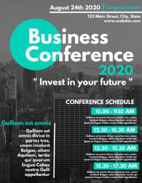 Business conference 2020 design template Volantino (US Letter)