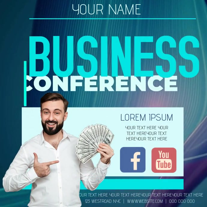 BUSINESS CONFERENCE AD TEMPLATE