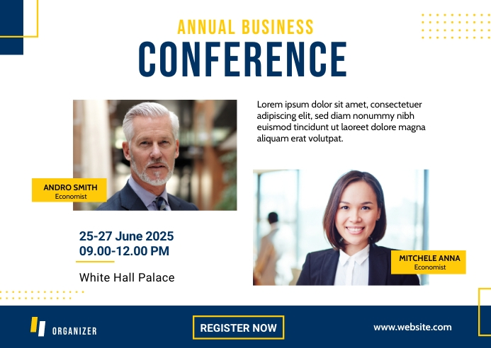 Business Conference Banner Template Postcard