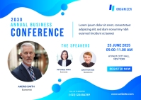 Business Conference Banner Template Carte postale