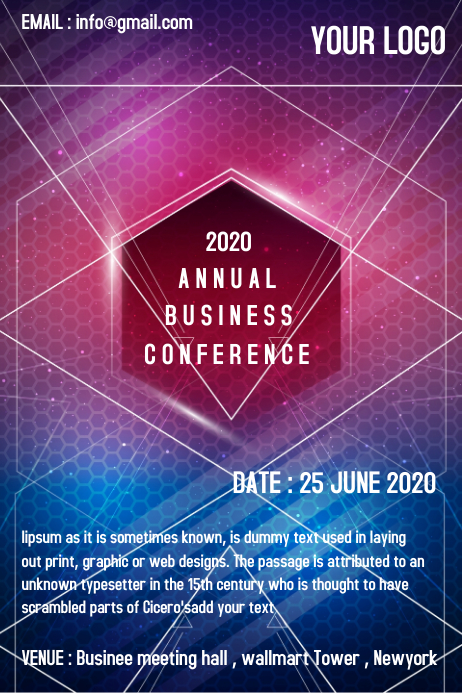 Business-conference Plakkaat template