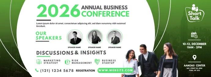 Business Conference Foto Sampul Facebook template