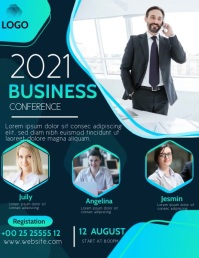 BUSINESS CONFERENCE Volante (Carta US) template