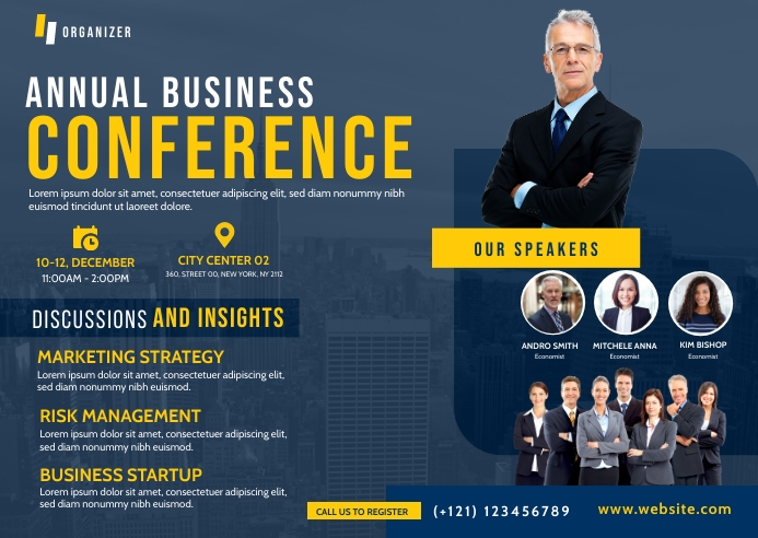 Business Conference Postcard template