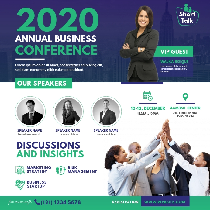 Business Conference Pos Instagram template