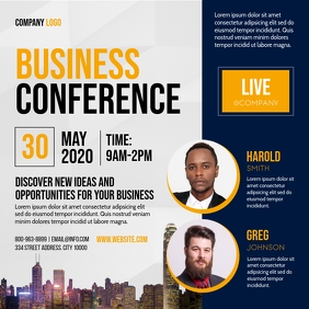 BUSINESS CONFERENCE Kwadrat (1:1) template