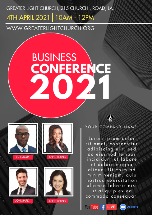 Business Conference A3 template