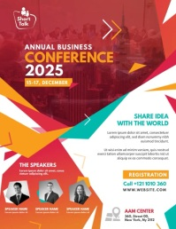 Business Conference Ulotka (US Letter) template