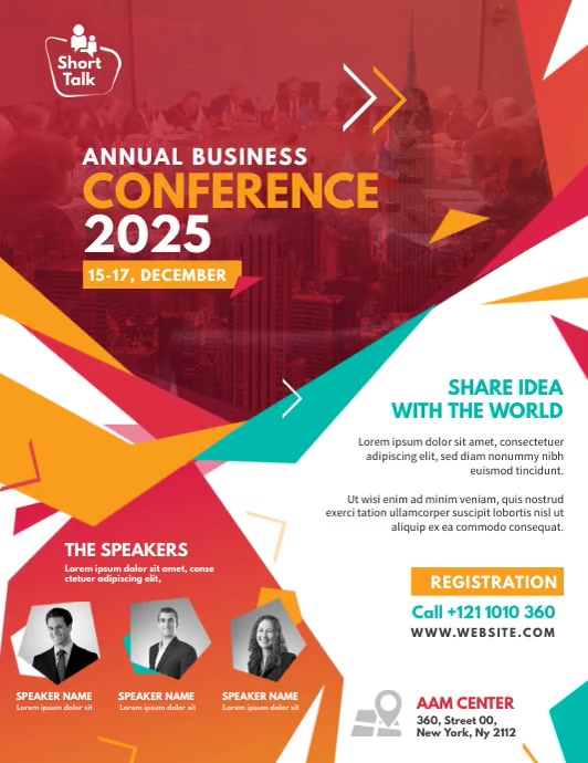 Business Conference Flyer (Letter pang-US) template