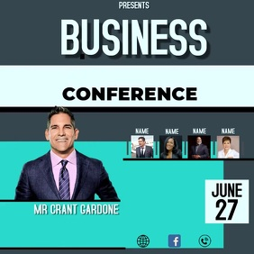 BUSINESS CONFERENCE EVENT AD Square (1:1) template