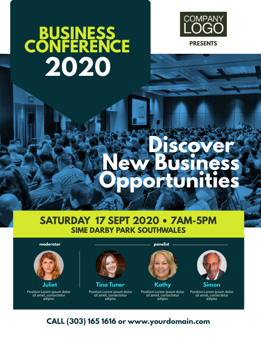 Business Conference Event Flyer Volantino (US Letter) template