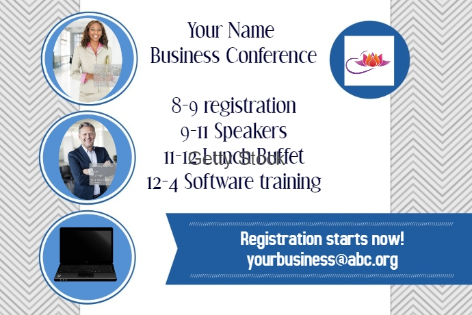 Business Conference Event Flyer Poster Announcement Invitation