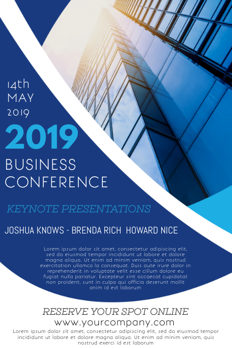 Business Conference Event Flyer template