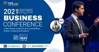 business conference flyer design Anúncio do Facebook template