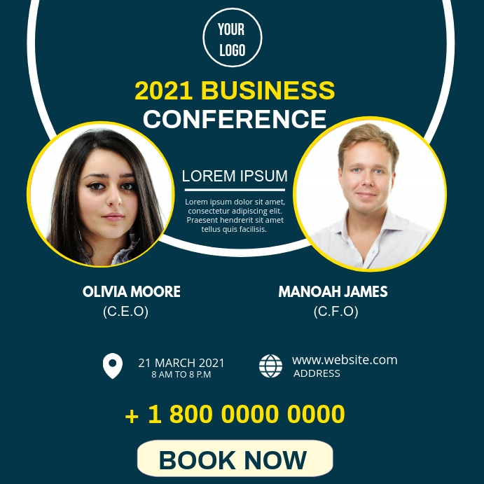 BUSINESS CONFERENCE FLYER Instagram-bericht template