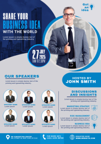 Business Conference Flyer A3 template