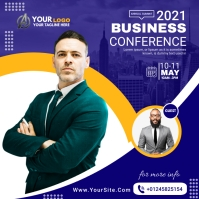 business conference flyer design Square (1:1) template