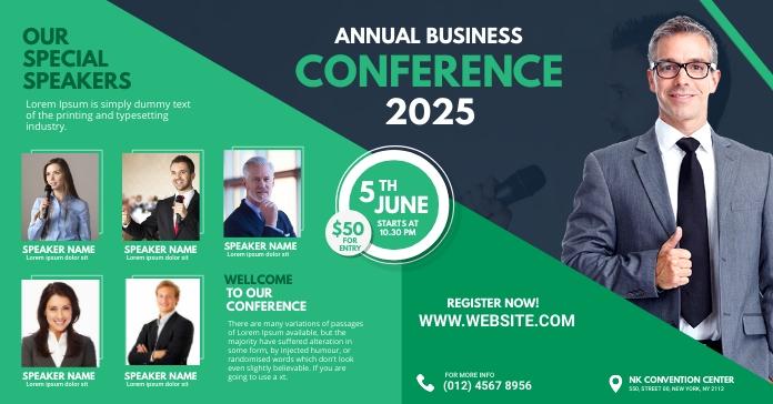 Business Conference Flyer โฆษณา Facebook template