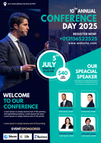 business conference flyer design A4 template