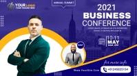 business conference flyer design Twitch Banner template