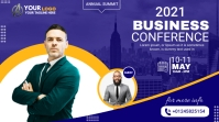 business conference flyer design Pantalla Digital (16:9) template