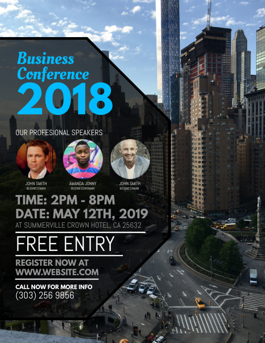 Business Conference Flyer ใบปลิว (US Letter) template