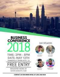 Customize 11880 small business flyer templates postermywall business conference flyer wajeb Choice Image