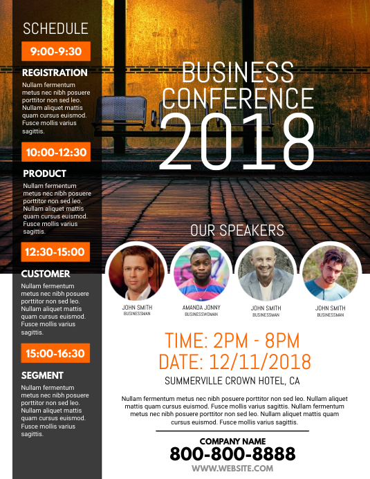 copy of business conference flyer
