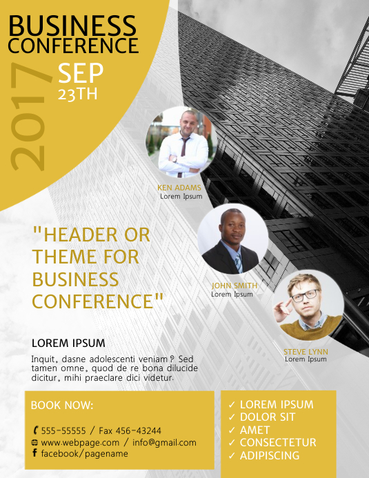 Business Conference Poster Template