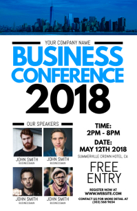 Business Conference Flyer Halve pagina breed template