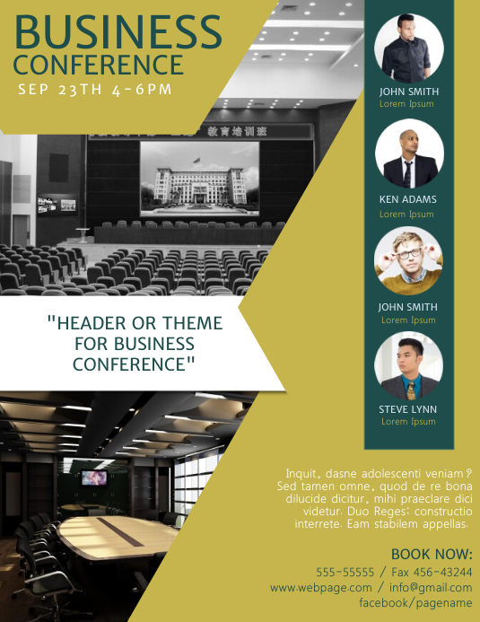 Customizable Design Templates For Business Conference Flyer Template