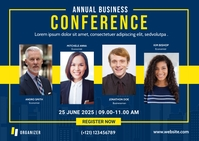 Business Conference Postcard Template Briefkaart