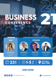 Business Conference Poster A4 template