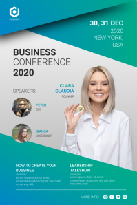 Business Conference Poster Flyer template